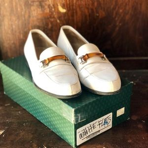 Vintage Gucci White Loafers